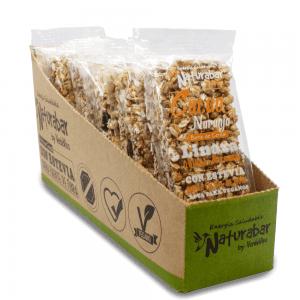 Barritas de cereal naturabar cacao naranja 25g Pack 15