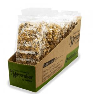 Barritas de cereal naturabar coco nuez 25g Pack 15