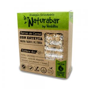 Barritas de cereal naturabar coco nuez 25g Pack 6