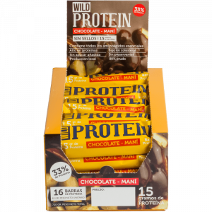 Wild Protein Chocolate + Mani 16 Un