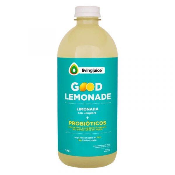 Good Lemonade Jengibre 1.45 lt (Limón / Jengibre+Probióticos) Pack 2 Jugos