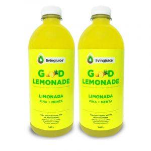 Good Lemonade Piña Menta 1.45 lt (Limón / Piña / Menta)  Pack 2 Jugos