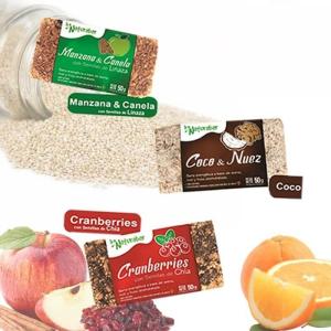 Pack naturabar Miel 15 barritas (manzana & canela / coco & nuez / cranberries)